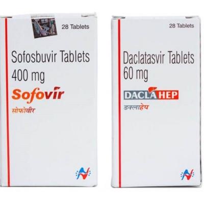 Sofovir и Daclahep Hetero курс 12 недель